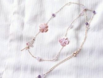 受注品:pastel flower garden/ 蝶の画像