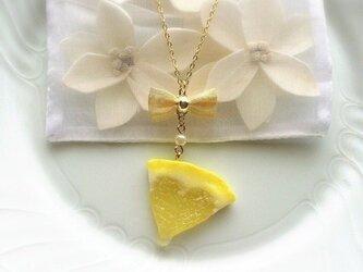 ハートレモンのネックレスの画像