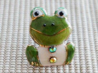 七宝焼ピンブローチ(ピンバッジ,ピンズ) カエル(正面の画像