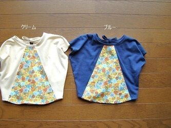 SALE!花柄Tシャツ ブルー*100cmの画像
