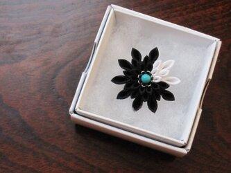 つまみ細工 指輪(大島紬)の画像