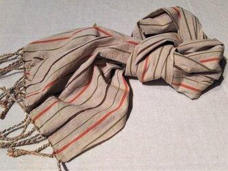 遠州綿紬のストール 稲穂の画像