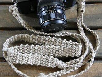 麻紐ヘンプカメラストラップA(2重リング)の画像