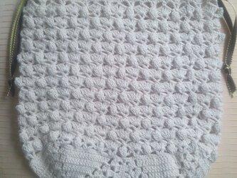 レース編み 巾着の画像