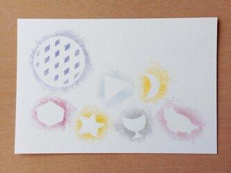 ポストカード アップルパイとmoon 2枚の画像