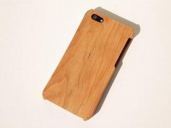 iPhone SE/5/5s ウッドケース チェリーの画像