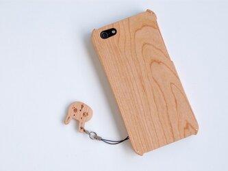 iPhone SE/5/5s ウッドケース チェリー SH付の画像