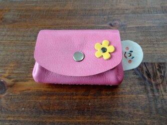 ninmari 革コインケース ピンクの画像
