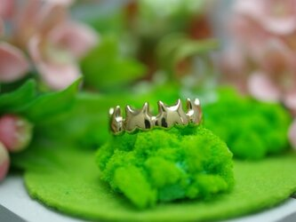 momoziri cat ring (K14 plating)の画像
