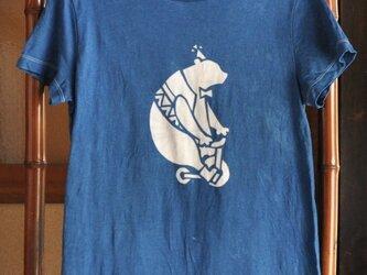 【sale】草木染め/コラボTシャツ/くまさん/G-Lの画像