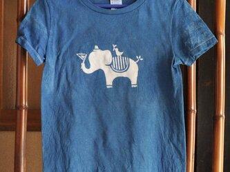 【sale】草木染め/コラボTシャツ/ぞうさんのお散歩/G-Mの画像