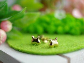 momoziri cat pierced earrings 2の画像