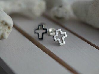 cross pierced earrings 1の画像