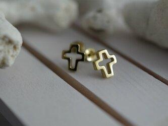 cross pierced earrings 2の画像