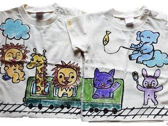 特注手描きTシャツ★名入れ★プレゼント出産祝いに 2枚価格 ベビーの画像