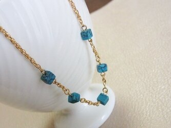 Cubic Turquoise☆Short Necklaceの画像