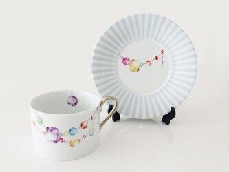 【SOLD】宝石のカップ&ソーサーの画像