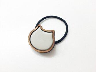 pain de mie 猫 ヘアゴム(白)の画像