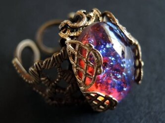 【ヴィンテージ】ドラゴンズブレスのリング 大粒 オパールの画像