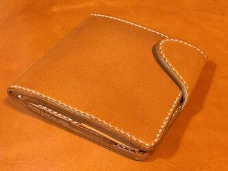 栃木レザーの2つ折りウォレットの画像