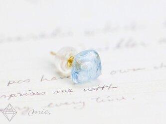 K18◆美しき水の結晶 アクアマリン ピアスの画像