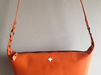 オレンジバッグの画像