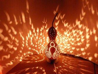 ひょうたんランプ 蛸モチーフ 素の画像