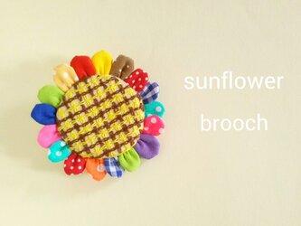 『sunflower』ブローチの画像