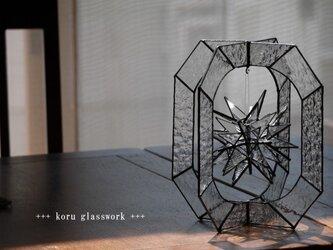 ステンドグラス 星のオブジェ【再販】の画像