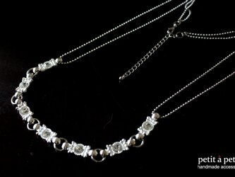 *silver bijou necklace nn56*の画像