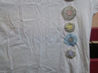 オーダーいただきましたレコードワッペンたくさんTシャツの画像