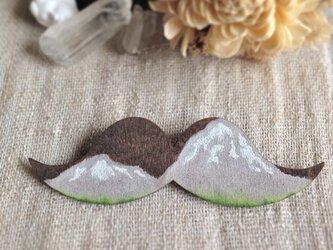 木のひげブローチ 山脈の画像