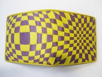 イントレミドルウォレット <黄×紫> 送料無料☆ラッピング無料☆ 二つ折り財布の画像