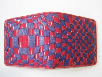 イントレミドルウォレット <赤エナメル×紫> 送料無料☆ラッピング無料☆ 二つ折り財布の画像