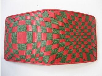 イントレミドルウォレット <赤×緑> 送料無料☆ラッピング無料☆ 二つ折り財布の画像