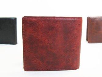 """☆送料無料☆""""BASIC""""アートウォレット<RED> ☆ラッピング無料☆ 二つ折り財布の画像"""
