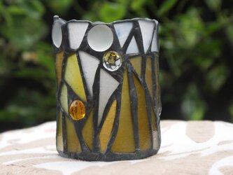 ステンドグラス キャンドルホルダー ビアグラスの画像