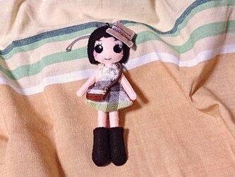 着せ替えフェルト人形根付NO.29の画像
