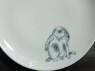 染付5寸猫皿 21の画像
