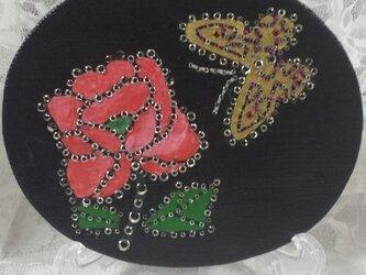 インテリアボード《バラ&蝶》の画像