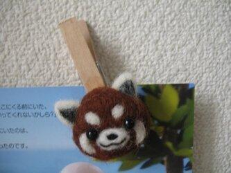 レッサーパンダ 木製クリップの画像