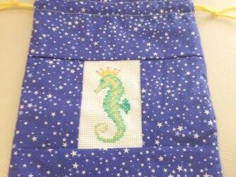 タツノオトシゴの巾着の画像