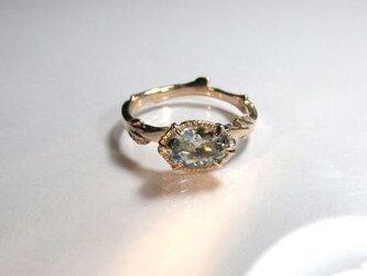 アクアマリンとk10の指輪の画像