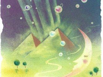 『天の恵は寝ている内に…』(パステルアート)の画像