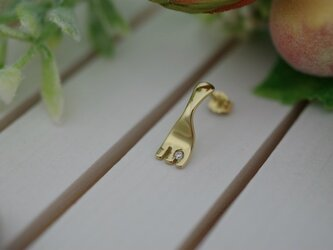 fork pierced earrings 2の画像