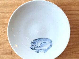 染付4寸猫皿 10の画像