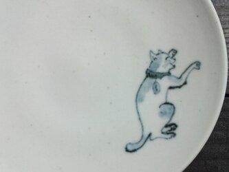 染付4寸猫皿 12の画像