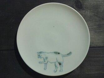 染付5寸猫皿 16の画像