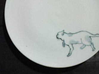 染付5寸猫皿 18の画像