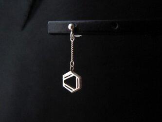 化学式ピアス®片耳(イヤリング変更可)(構造式デザインピアス)の画像
